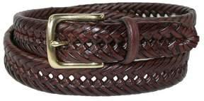 Tommy Hilfiger Men's Burnished Handlaced 1 1/4 Inch Belt, 34, Tan
