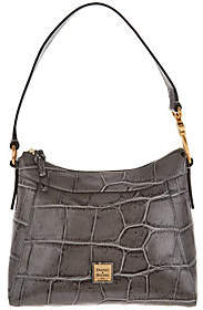 Dooney & Bourke Croco Leather Large CassidyHobo Handbag - ONE COLOR - STYLE