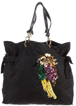 Marc Jacobs Embellished Nylon Tote - BLACK - STYLE