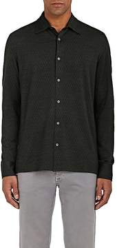 Luciano Barbera Men's Silk-Wool Knit Shirt