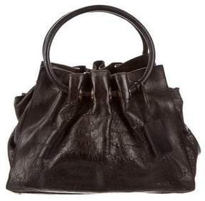 Oscar de la Renta Leather Handle Bag