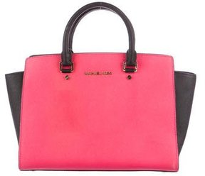MICHAEL Michael Kors Selma Leather Tote - PINK - STYLE