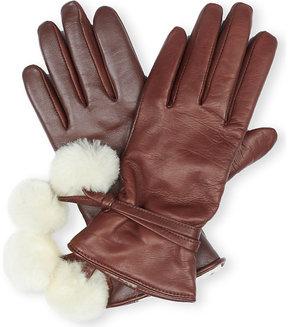 UGG Ladies Cordovan Luxury Brita Smart Leather Gloves