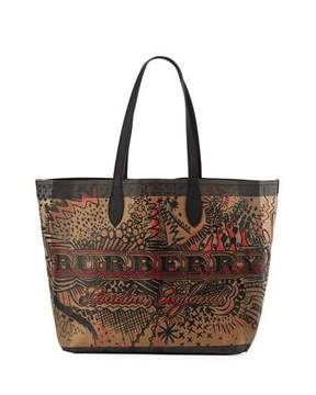 Burberry Logo Sketchbook Series Tote Bag - MULTI PATTERN - STYLE