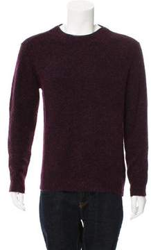 3.1 Phillip Lim Leather-Trimmed Crew Neck Sweater
