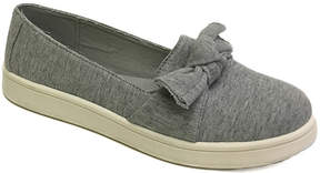Bamboo Heather Gray Bow-Accent Habit Sneaker - Women