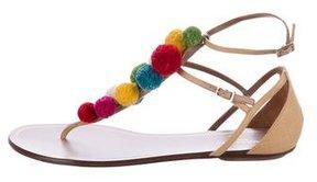 Aquazzura Pom-Pom Thong Sandals