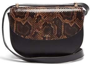 A.P.C. Geneve Leather Cross Body Bag - Womens - Black Multi