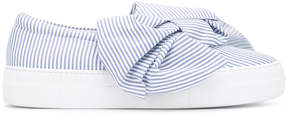 Joshua Sanders bow striped slip-on sneakers