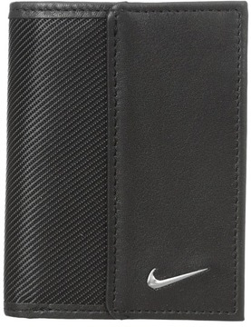 Nike - Nike Leather/Tech Twill Credit Card Fold Credit card Wallet