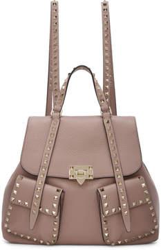 Valentino Pink Garavani Rockstud Backpack
