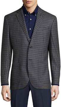 Michael Bastian Gray Label Men's Plaid Wool Blazer