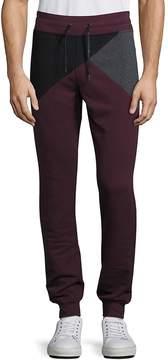 Madison Supply Men's Geometric Colorblock Jogger Pants