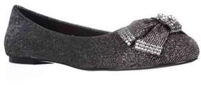 Betsey Johnson Emy Sparkle Bow Ballet Flats, Black.