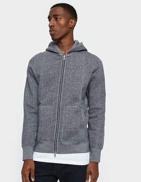 Reigning Champ Full Zip Hoodie Tiger Fleece in Grey