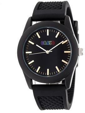 Crayo Storm Collection CRACR3701 Black Analog Watch