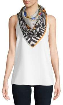 Versace Printed Silk Neck Scarf