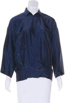 Barbara Bui Long Sleeve Button-Up Top w/ Tags