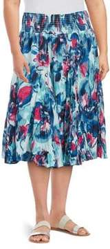 Context Plus Printed Cotton Skirt