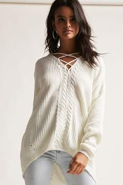 Forever 21 Oversized Crisscross-Front Sweater