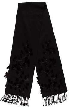Fendi Fur Embellished Cashmere Scarf