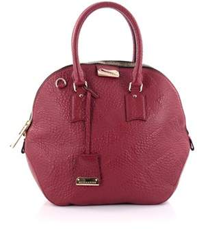 Burberry Pre-owned: Orchard Bag Embossed Check Leather Medium. - RED - STYLE