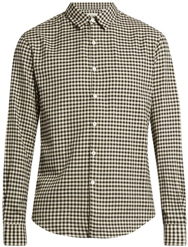TOMORROWLAND Long-sleeved gingham brushed-cotton shirt