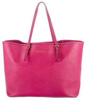 MICHAEL Michael Kors Leather Jet Set Tote
