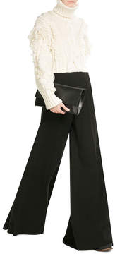 Emilia Wickstead Wide Leg Wool Pants