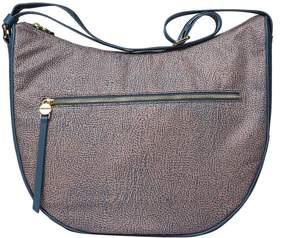Borbonese Medium Op Jet And Jeans Luna Bag