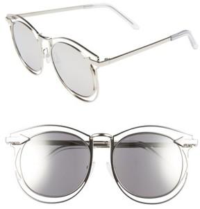 Karen Walker Women's 'Simone' 54Mm Retro Sunglasses - Silver/ Clear