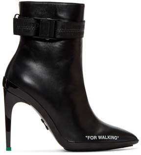 Off-White Black For Walking Ankle Boots