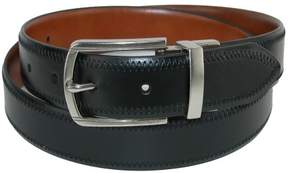Tommy Hilfiger Men's Feather Edge Reversible Belt with Stitch, 42, Black to Tan