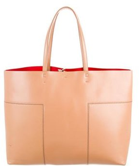 Tory Burch Large Block T Tote - BROWN - STYLE