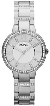 Fossil Women's 'Virginia' Crystal Accent Bracelet Watch, 30Mm