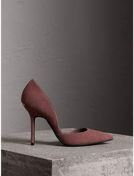 Burberry Point-toe Suede D'Orsay Pumps