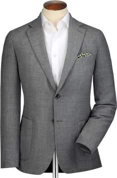 Charles Tyrwhitt Slim Fit Grey Wool Italian Travel Wool Blazer Size 38