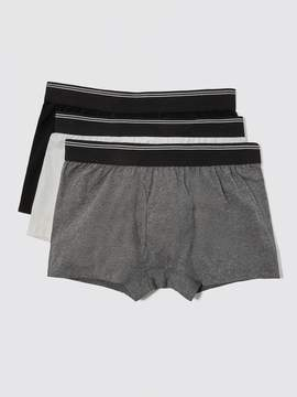 Frank and Oak 3-Pack Cotton Trunks in Multi Neutral