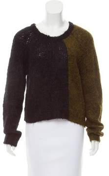 BLK DNM Two-Tone Crew Neck Sweater