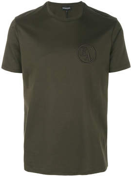 Emporio Armani embroidered logo T-shirt