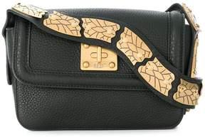 RED Valentino RED(V) pebbled snake strap crossbody bag
