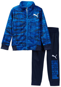 PUMA Print Track Tricot Jacket & Pant Set (Little Boys)