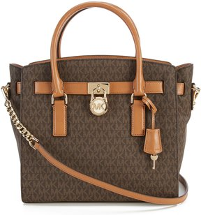 MICHAEL Michael Kors Signature Hamilton Large Satchel - BROWN - STYLE