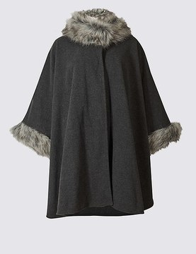 Marks and Spencer Faux Fur Fleece Wrap