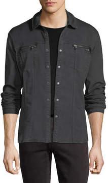 John Varvatos Denim Knit Shirt Jacket