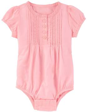 Osh Kosh Baby Girl Pintuck Henley Bodysuit
