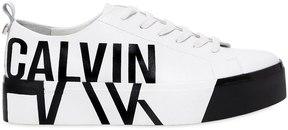 Calvin Klein Jeans 40mm Jayda Printed Logo Leather Sneakers