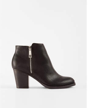 Express side zip ankle booties