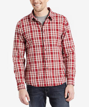 Life is Good Cranberry Red Down Home Plaid Button-Up - Men