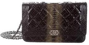 Chanel 2015 Python Boy Wallet On Chain
